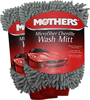 Mothers Premium Chenille Car Wash Mitt - Scratch & Lint Free, 2pk