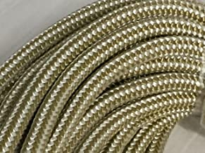1/2 Inch by 100 Feet Gold Double Braid Nylon Rope