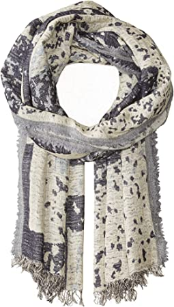Airy Linen Cashmere Jacquard Scarf