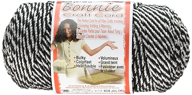 Pepperell Bonnie Macrame Craft Cord, 4mm by 100 yd, Black Licorice