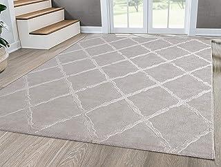 """Mia´s Teppiche """"Anna"""" woonkamer tapijt, laagpolig, 080x150 cm, ruit beige"""