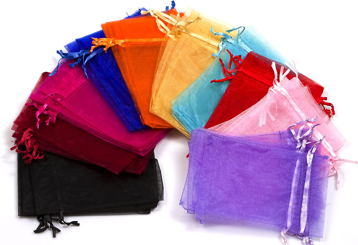 EDENKISS drawstring Organza Jewelry Pouch Bags Blue, 2.8X3.6