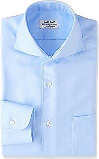 [フェアファクス] 形態安定加工ヘリンボーンカッタウェイカラーシャツ 8202 メンズ