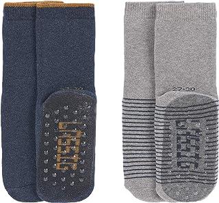 Lässig, Anti-slip Socks 2 Pcs. Assorted Blue/grey, Size: 27-30 Calcetín pantufla, 30 para Bebés