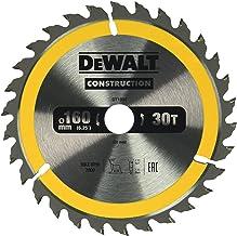 Dewalt DT1932-QZ DT1932-QZ-Hoja para sierra circular portátil para construcción 160x20mm 30D ATB +10º, 0 W, 0 V, One size, Set de 6 Piezas