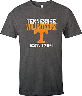 NCAA Tennessee Volunteers Est Stack Jersey Short Sleeve T-Shirt, Asphalt,Asphalt,Large