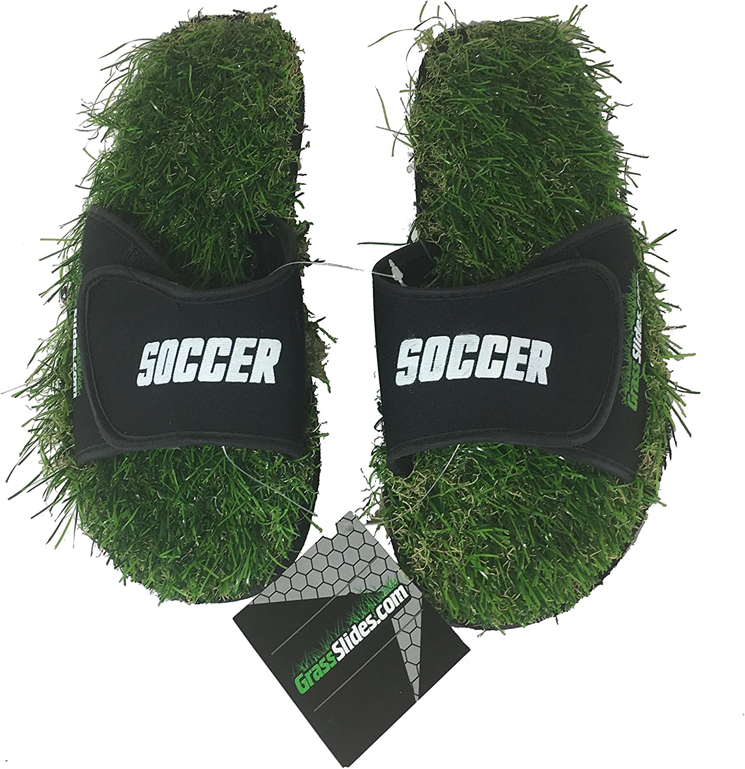 GrassSlides Soccer shoes are Made from Real Turf, Slippers, Sandals, flip Flops, Slips. Green
