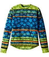 Hot Chillys Kids - Micro Fleece Print Crew (Little Kids/Big Kids)