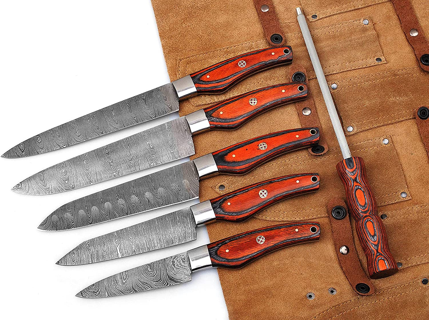 06 Pcs Custom Hand Made Utility Selling and selling Kitc Professional Weekly update Damascus Steel