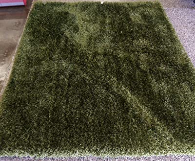 Hunter Green Modern Area Rug 2x3