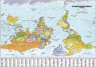 Upside Down World Political Wall Map - 39.25