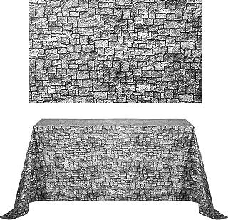 Chuangdi 2 Sheets 4.5 x 9 Feet Stone Wall Backdrop Stone Wall Scene Setter Brick Sheet Wallpaper Curtains Door Removable B...