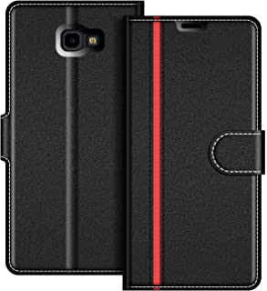 COODIO Funda Samsung Galaxy J4 Plus con Tapa, Funda Movil Samsung J4 Plus, Funda Libro Galaxy J4 Plus Carcasa Magnético Funda para Samsung Galaxy J4 Plus 2018, Negro/Rojo
