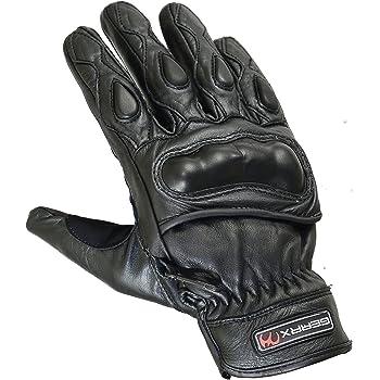 Jet Motorradhandschuhe Herren Sommer Leder Touchkompatible Fingerspitzen Handknöchelprotektor Belüftung Kobi Schwarz M Auto