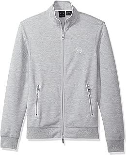 Armani Exchange Zip Up Jacket for Men - Heather Grey (8NZM73ZJN1Z)