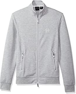 Armani Exchange Zip Up Jacket for Men - Heather Grey (8NZM73ZJN1Z - XXL)