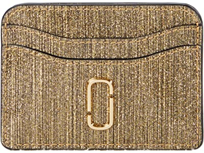 Marc Jacobs Snapshot Glitter Stripe New Card Case (Gold) Wallet Handbags