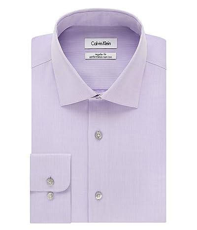 Calvin Klein Dress Shirt Regular Fit Non Iron Herringbone