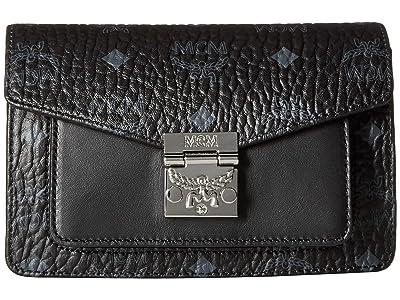 MCM Patricia Visetos Belt Bag Xmini (Black) Handbags