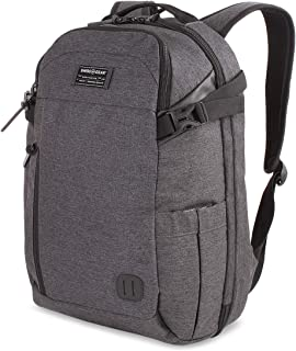 SWISSGEAR Getaway Weekend Padded Laptop Backpack | Travel, Work, School | Men's and Women's - Heather Gray