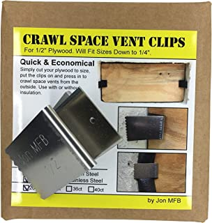 Crawl Space & Foundation Vent Cover Clips (Accommodates 10 Vents) - Stainless Steel.