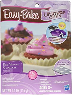Easy Bake Ultimate Oven Red Velvet Cupcakes Refill Pack Playset, 4.1 oz
