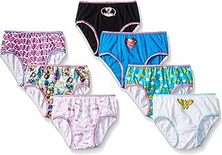 DC Comics Girls Justice League Logo 7pk Panty Panties - Multi
