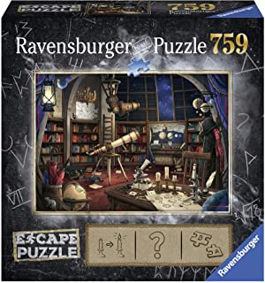 """Ravensburger Escape Room Space Observatory 759 Piece Jigsaw Puzzle for Adults and Kids Age 12 and Up 27"""" x 20"""""""