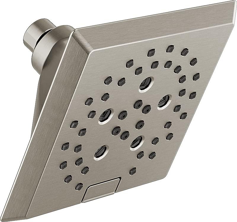 Delta 52664 SS H2Okinetic 5 Setting Raincan Shower Head Stainless