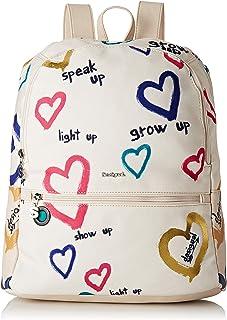 dde4f183d4 Desigual - Bag Natural Message Novara Women, Bolsos mochila Mujer, Blanco  (Crudo)
