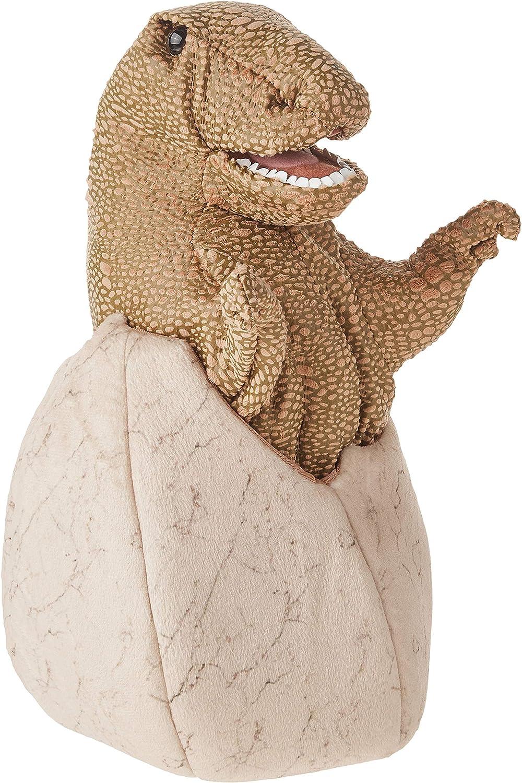 Folkmanis Fashionable 3134 Miami Mall Dinosaur Egg Hand Puppet Green B Tan One Size