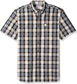 Men's Big and Tall Big & Tall Essential Plaid Button Down Short Sleeve Shirt
