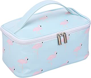HOYOFO Womens Cosmetic Bags Flamingo Makeup Storage Case Handle Toiletry Bag, L