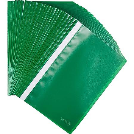 Amazon Basics - Cartelline A4, confezione da 25 pezzi, verde