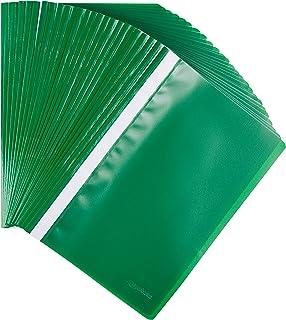 Amazon Basics - Carpetilla portadocumentos, tamaño A4, 25 unidades, verde