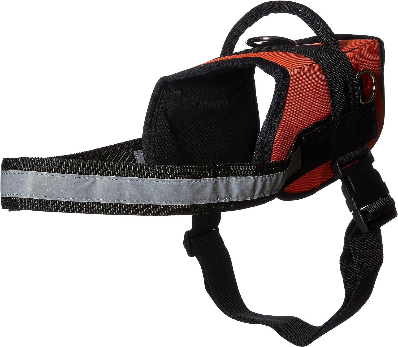 Dean & Tyler DT H WRKSDEAFD ORB L Works Deaf Dog  Dog Harness, Fits Girth Size 86cm to 119cm, Large, orange Black