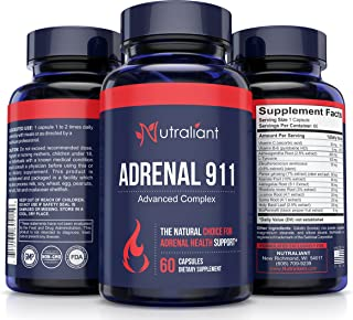 Best Adrenal Fatigue Supplements for Adrenal Gland Support #1 Cortisol Manager, Blocker Capsules - Pills for Stress Relief - Adaptogenic Herbs & Extract for Brain Fog, Focus, Energy & Hormone Balance