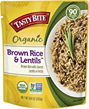 Tasty Bite Brown Rice Lentil 8.8 Ounce (Pack of 6), Whole Grain Brown Rice with Savory Lentils and Herbs, Gluten Free, Vegan, Ready to Eat, Microwaveable