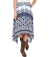 Roper - 0235 Aztec Stripe Printed Rayon Skirt