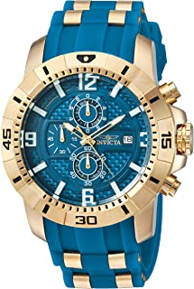 Men's Pro Diver Quartz Watch with Stainless-Steel & Silicone Strap Blue/Black