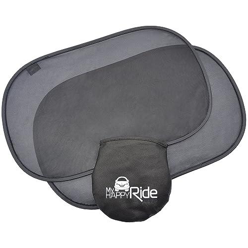 Parasoles para coche (2) para ventanas laterales, parasoles estáticos, protección contra rayos