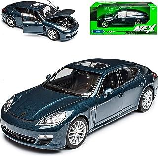 Welly Porsche Panamera S Blau Ab 2009 1/24 Modell Auto mit individiuellem Wunschkennzeichen