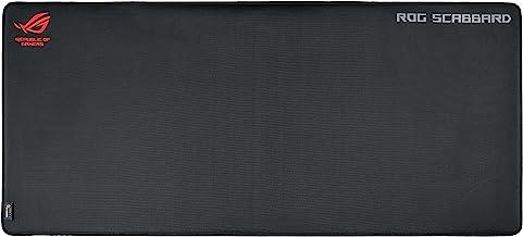 Asus ROG Scabbard - Alfombrilla gaming de gran tamaño con un diseño resistente a salpicaduras y el desgaste, inscripciones que brillan en la oscuridad y una base antideslizante