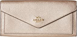 COACH - Soft Wallet in Metallic Leather