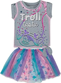 Toddler Girls Shirt and Skirt Set -Poppy, Heather Grey