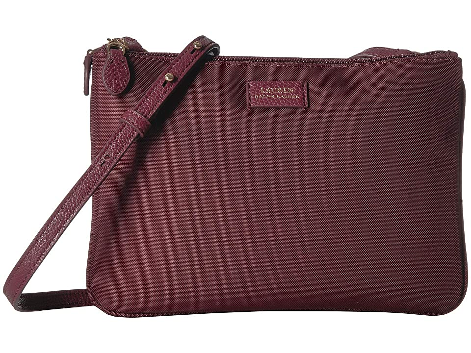LAUREN Ralph Lauren Chadwick Crossbody (Merlot) Cross Body Handbags 0347b738bf
