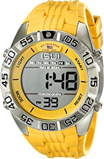 Sport Men's US9228 Yellow Silicone Digital Watch