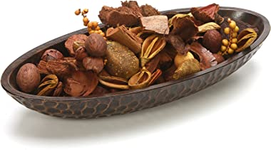 Hosley Honeycomb Wood Decor Bowl is 14.3 Inch Long for Orbs or Dried Potpourri and is an Ideal Gift for Library Den Dorm Home