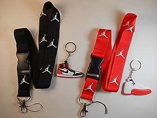 Two Jordan Lanyards with Two Jordan Shoe keychains. New!!!!