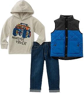 Kids Headquarters Baby Boys 3 Pieces Vest Set